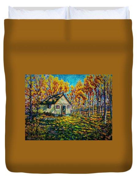 Autumn Cabin Trip Duvet Cover