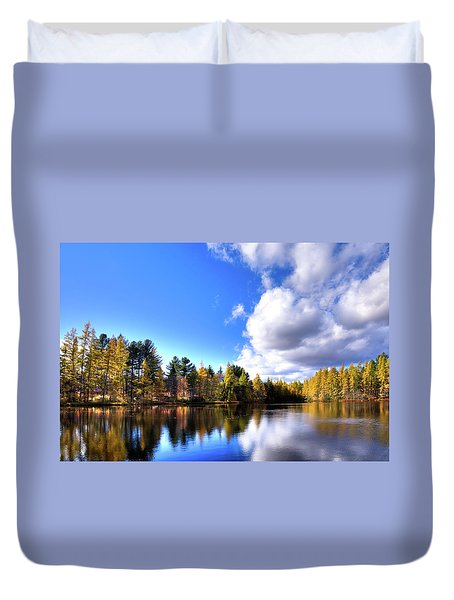 Duvet Cover featuring the photograph Autumn Calm At Woodcraft Camp by David Patterson