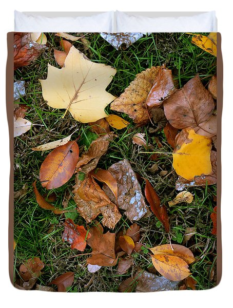 Duvet Cover featuring the photograph Autumn Carpet 001 by Dorin Adrian Berbier