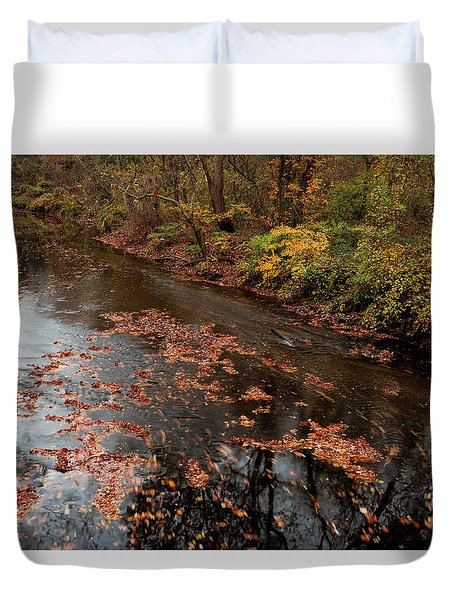 Duvet Cover featuring the photograph Autumn Carpet 003 by Dorin Adrian Berbier