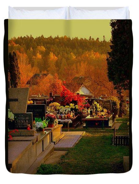 Autumn Cemetery Duvet Cover