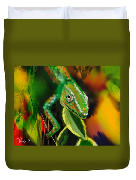 Autumn Chameleon Duvet Cover