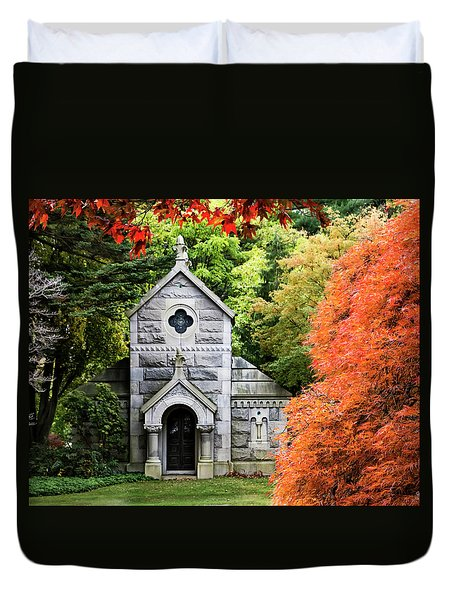 Autumn Chapel Duvet Cover