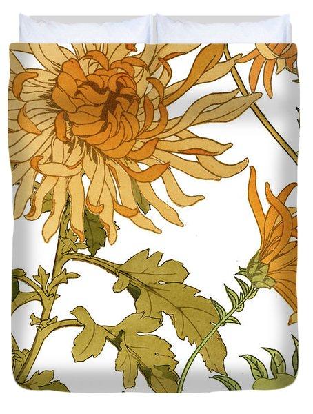 Autumn Chrysanthemums I Duvet Cover