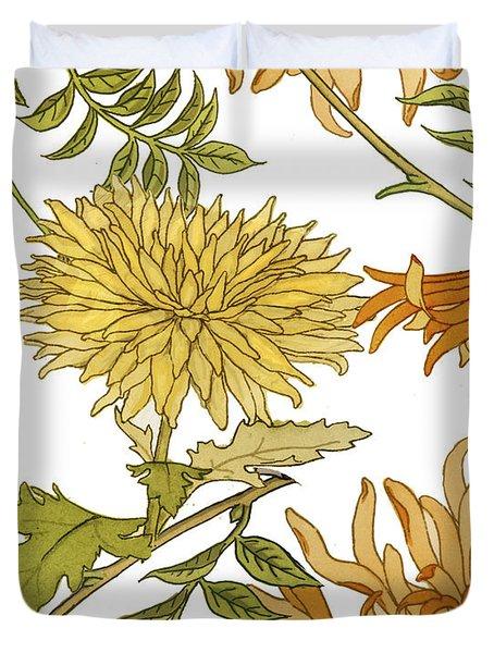 Autumn Chrysanthemums II Duvet Cover