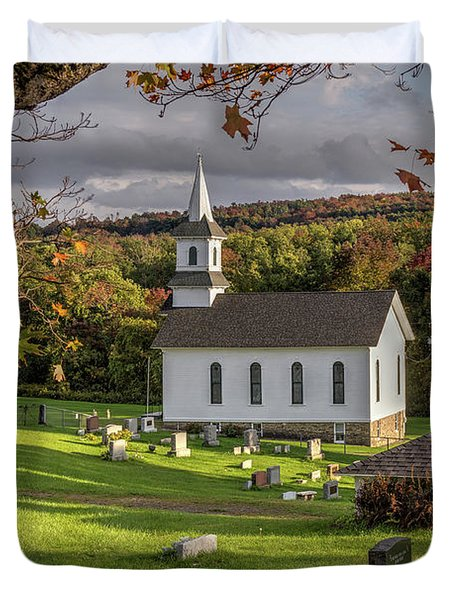 Autumn Church Duvet Cover