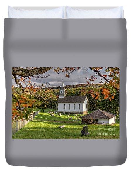 Autumn Church Duvet Cover