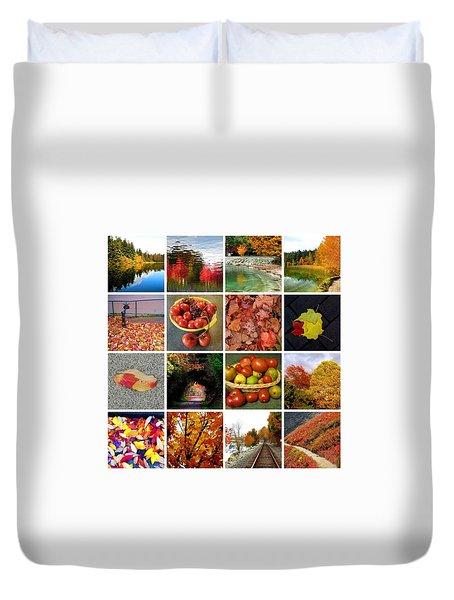 Autumn Collage  Duvet Cover