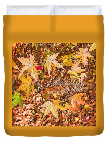 Autumn Color And Patterns Duvet Cover