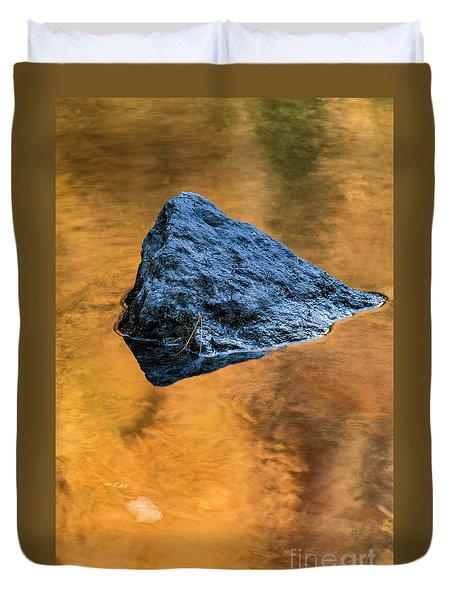 Duvet Cover featuring the photograph Autumn Color On Little River - D009990 by Daniel Dempster