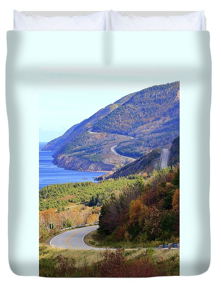 Autumn Color On The Cabot Trail, Cape Breton, Canada Duvet Cover