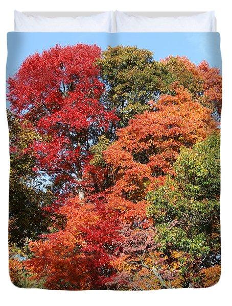 Autumn Color Spray Duvet Cover