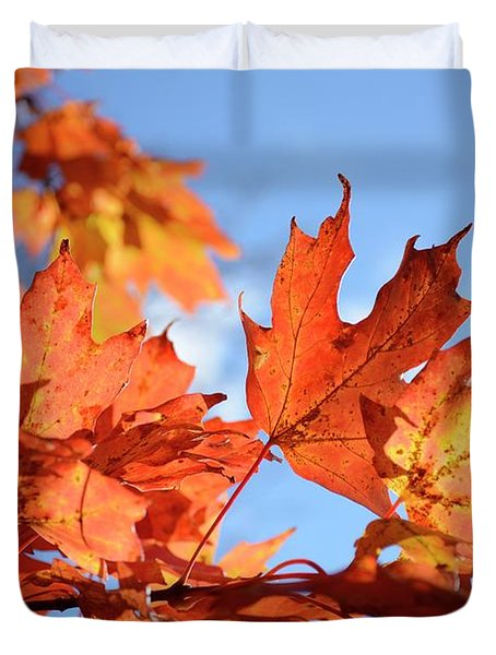 Duvet Cover featuring the photograph Autumn Colors 2 by Angie Tirado