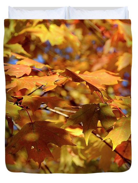 Duvet Cover featuring the photograph Autumn Colors 3  by Angie Tirado