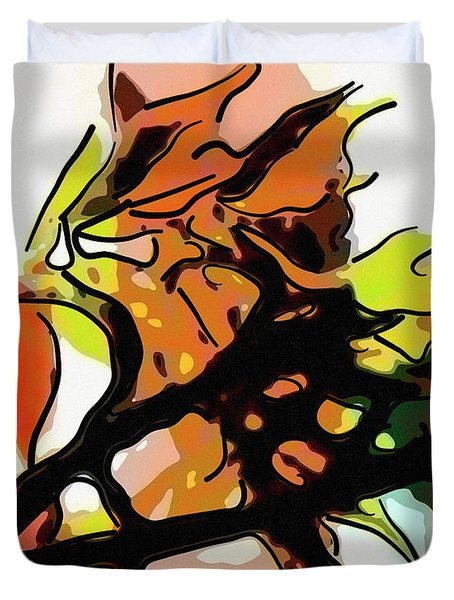 Autumn Colors Abstract Duvet Cover