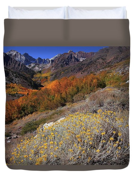 Autumn Colors At Mcgee Creek Canyon In The Eastern Sierras Duvet Cover