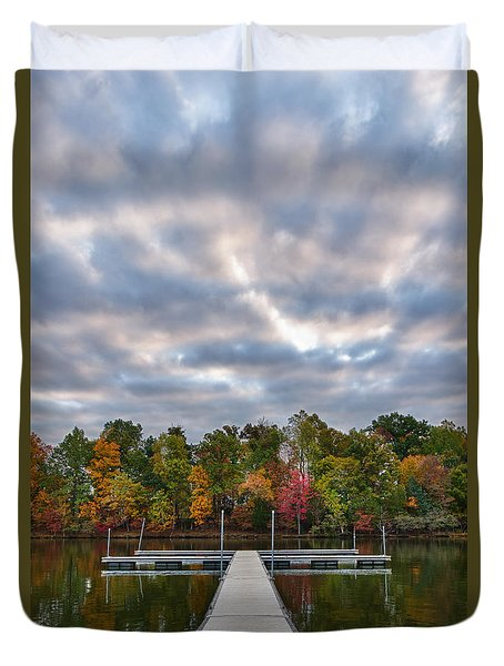 Autumn Colors At The Lake Duvet Cover