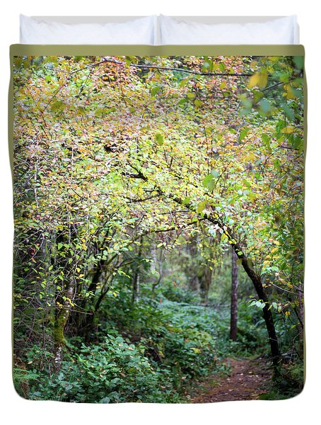 Autumn Colors In The Forest Duvet Cover