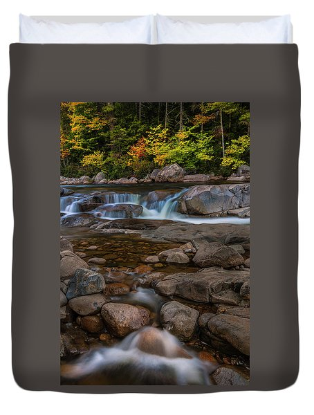 Duvet Cover featuring the photograph Autumn Colors In White Mountains New Hampshire by Ranjay Mitra
