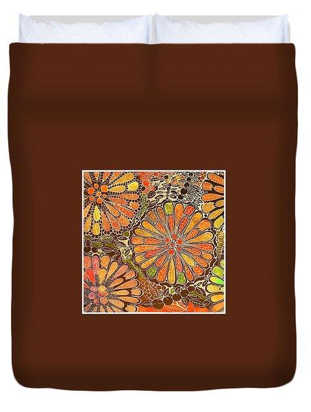 Autumn  Colors Mandalas  Duvet Cover