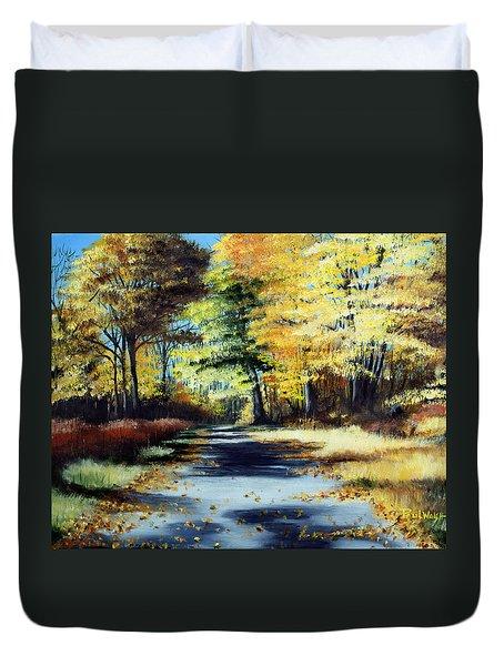 Autumn Colors Duvet Cover by Paul Walsh