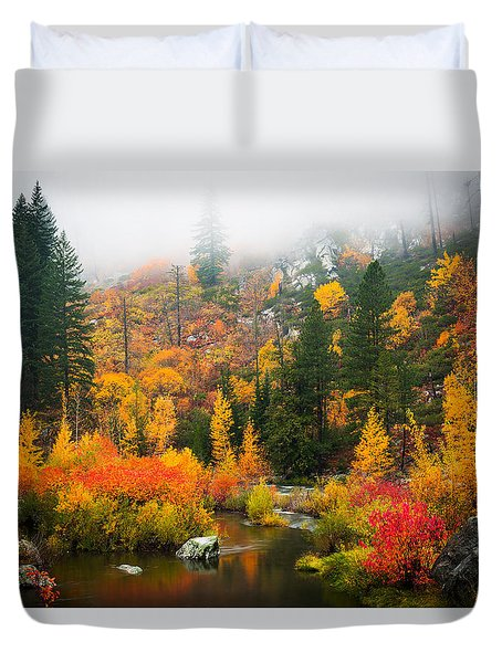 Autumn Colors Symphony Duvet Cover
