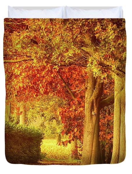 Autumn Colors Duvet Cover by Wim Lanclus