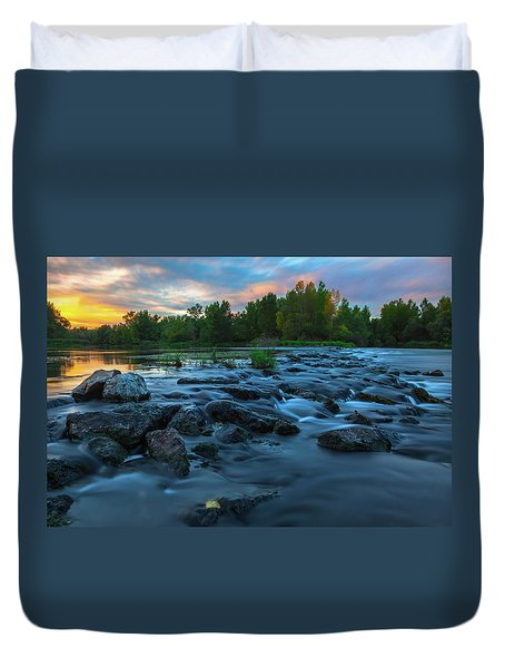 Duvet Cover featuring the photograph Autumn Comes by Davor Zerjav
