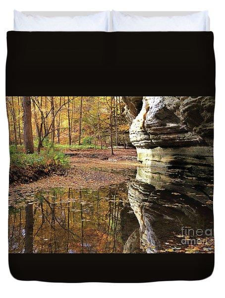 Autumn Comes  To Illinois Canyon  Duvet Cover