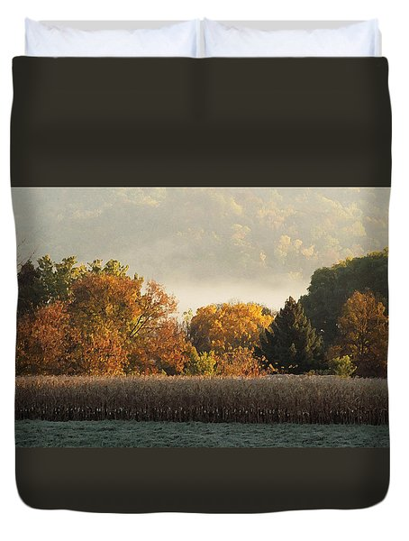Autumn Cornfield Duvet Cover by Inspired Arts