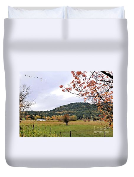 Autumn Country View Duvet Cover