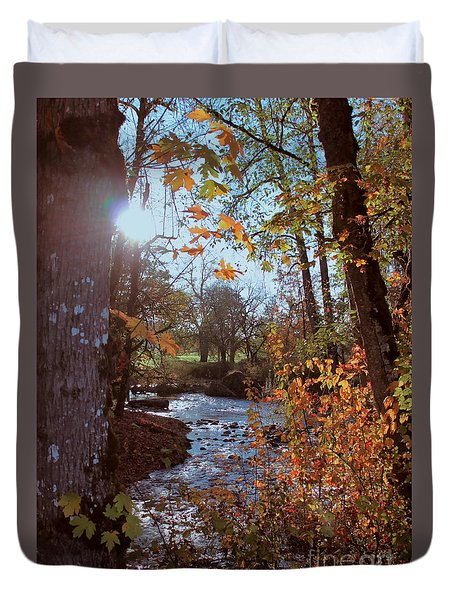 Autumn Creek Duvet Cover by Erica Hanel