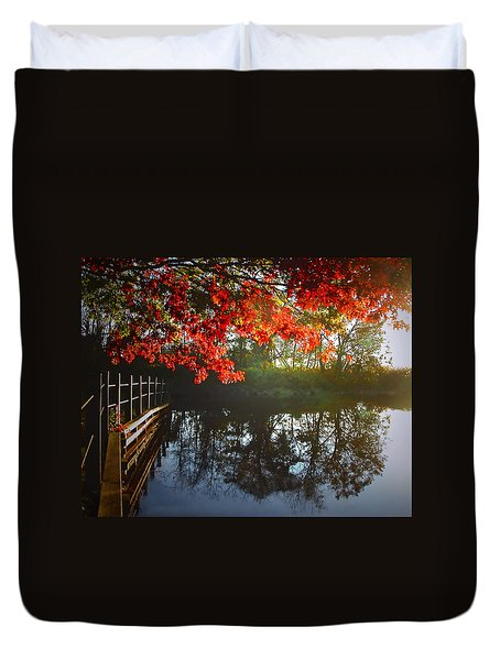 Autumn Creek Magic Duvet Cover