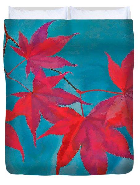 Autumn Crimson Duvet Cover by William Jobes