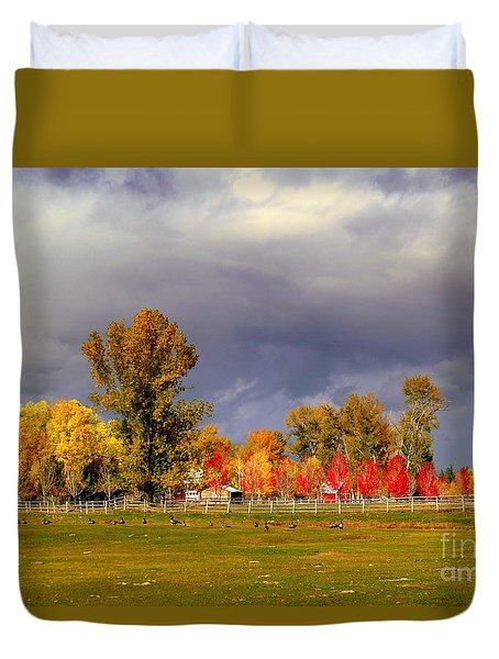 Autumn Day Duvet Cover by Irina Hays