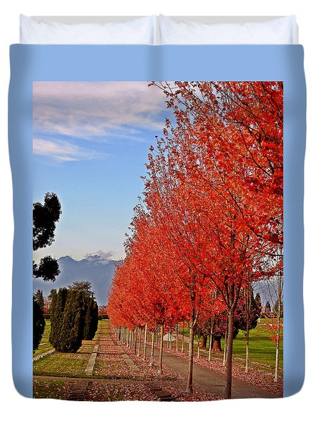 Autumn Delight, Vancouver Duvet Cover