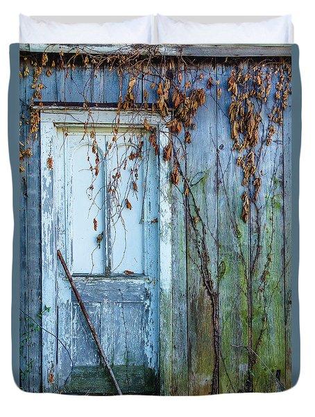Autumn Door Duvet Cover