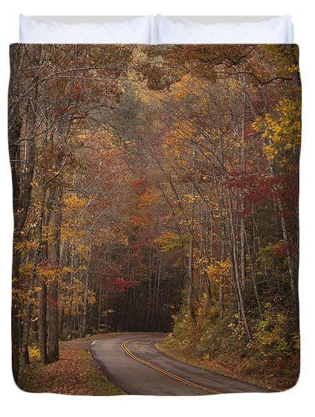 Autumn Drive Duvet Cover