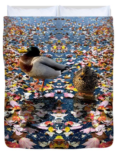 Autumn Ducks Duvet Cover