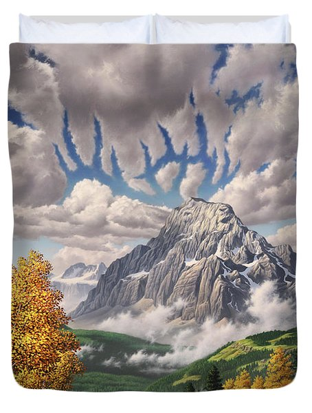 Autumn Echos Duvet Cover by Jerry LoFaro