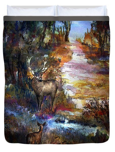 Autumn Encounter Duvet Cover