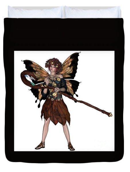 Autumn Fairy Duvet Cover by Corey Ford