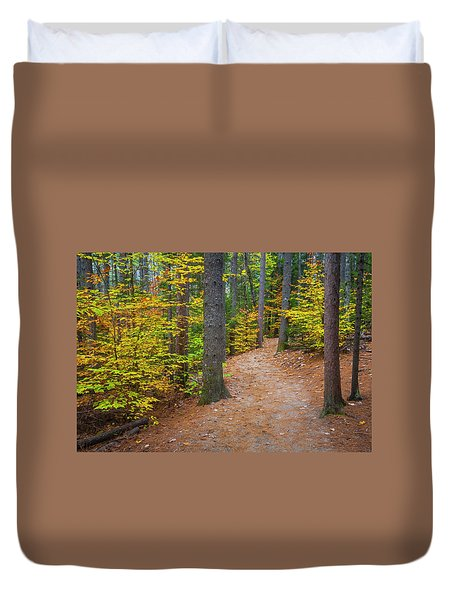 Duvet Cover featuring the photograph Autumn Fall Foliage In New England by Ranjay Mitra