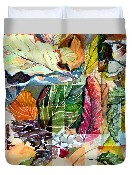 Autumn Falls Duvet Cover by Mindy Newman