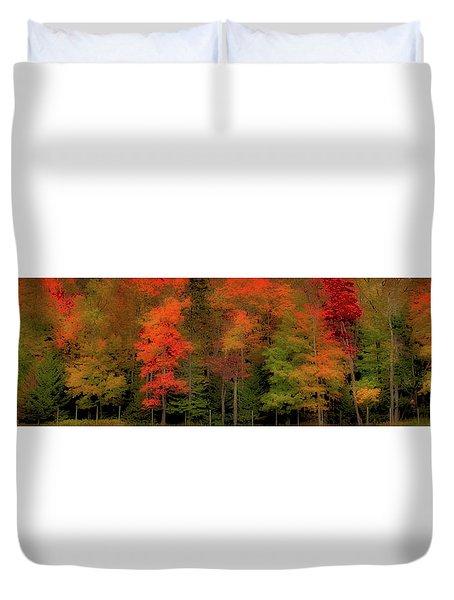 Autumn Fence Line Duvet Cover