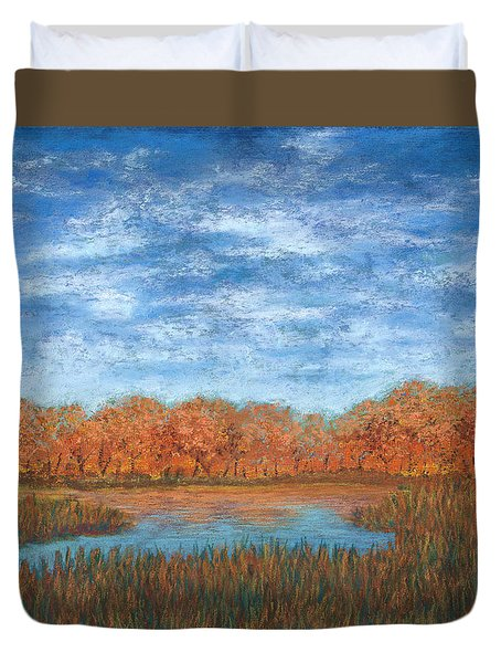 Autumn Field 01 Duvet Cover