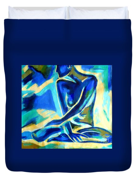 Autumn Figure Duvet Cover