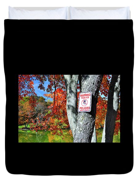 Autumn Fire And Ice Horizontal Duvet Cover