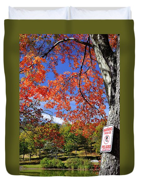 Autumn Fire And Ice Duvet Cover