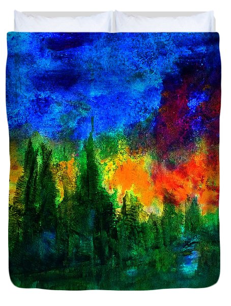 Autumn Fires Duvet Cover